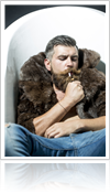 Casual fur coat for men